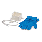 Suction Catheter Kit, Safe-T-Vac, Adult, Coil Pack, Pop-Up Cup, 2 Powder-Free Gloves, 12 Fr
