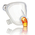Face Mask, PerforMax SE, SM Adult, incl Headgear, White Headgear Clips, Clear Elbow Hub, Std Elbow