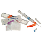 Arterial Blood Sampling Kit, Pro-Vent Plus, Dry Lithium Heparin, 3 ml Luer Slip Syringe, 22 g Needle