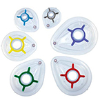 Face Mask, Clear Inflatable Cushion, Removable Color Coded Hook Ring, Single Use, Child, Size 2