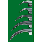 Laryngoscope Blade, GreenLine, English Profile, Macintosh, Fiber Optic, 100 mm, Size 2, Child