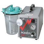 Suction Unit, Power Vac Aspirator, Portable, Hospital Grade Cord, 2000 cc Canister