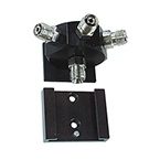 Rail Block Assembly, Oxygen, Plate, Wall Bracket, DISS Male Inlet, Hex Block - 3 Outlets, 2 Screws