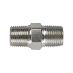 Hex Nipple, Pipe Fitting, 1/8 NPT Male x 1/8 NPT Male