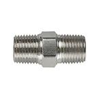 Hex Nipple, Pipe Fitting, 1/8 NPT Male x 1/8 NPT Male