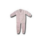 Coverall, Open Wrist and Ankle, Zipper, Collar, White, XL