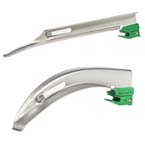 Laryngoscope Blade, Curaplex, Greenline, Stainless Steel, Macintosh, Disposable, Size 3.5, Adult