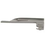 Laryngoscope Blade, Wisconsin, Fiber Optic, Stainless Steel, Reusable, Size 4