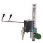 Eliminator, 15 LPM Fixed Flow Barb, DISS Female Hand Tight Connector, Chrome Body Flowmeter, Off-Set Right