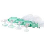 Manual Resuscitator BVM, AirFlow, Small Child, w/ Size 2 Mask, O2 Bag Reservoir, 7ft Tubing Pop Off, PEEP Valve, Disposable