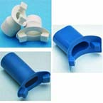 Mouthpiece, Reusable, 1 1/8in to 1 1/4in ID, Blue Thermoplastic Rubber, Non-Sterile