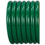 Oxygen Hose, O2, Green, Conductive, Kink Resistant, 1/4-in ID, 1-ft
