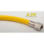 Hose, Air, 2ft, DISS Female Handtight X DISS Female Handtight, Yellow