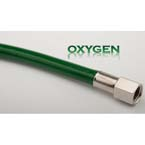 Oxygen Hose, 3 ft, DISS Female Hexnut X  DISS Male No Check, Green