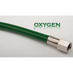Oxygen Hose, 3 ft, DISS Female Hexnut X  DISS Male No Check, Green