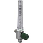 Flowmeter, Oxygen, Chrome, No Adapter, 1/8 NPT Female, 2-26 LPM