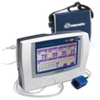 LifeSense Widescreen Capnograph/Pulse Oximeter, Sample Line, 8000AA-2 Sensor, 3 Cannulas, Case