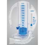 Volumetric Incentive Spirometer, AirLife, Flex Tubing, 1-way Valve, Mouthpiece, 2500mL