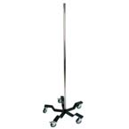 Equipment Pole, No Hooks, 5 Leg Base, 48in Pole