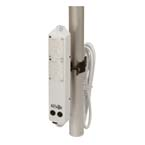 Power Strip, Pole Mount, 4-Way Outlet