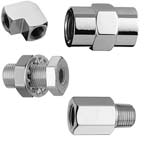 Pipe Thread Fitting, Female to Male Adapter, 1/8in NPT Female x 1/4in NPT Male