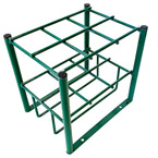Cylinder Stand, M7, M9, C, D, E Cylinders, 6 Cylinder Capacity, Green