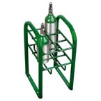 Cylinder Stand, M4, M6, B Cylinders, 6 Cylinder Capacity, Green