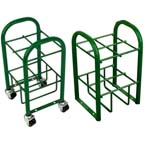 Cylinder Stand, M7, M9, C, D, E Cylinders, 4 Cylinder Capacity, Green