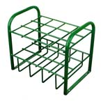 Cylinder Stand, M4, M6, B Cylinders, 12 Cylinder Capacity, 19.5in H x 12in D x 18in W, 16 lbs, Bolt Down Feet, Green