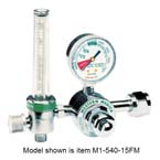 CO2 Flowmeter Regulator, M1 Series, Single Stage, 1/2-12 LPM, CGA320 Nut and Nipple Inlet