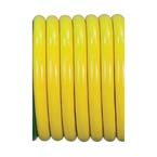 Air Hose, Yellow, Conductive, Kink Resistant, Medical Grade, 1/4-in ID, 1-ft