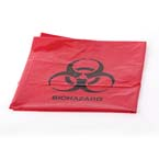 Equipment Cover, Red Contaminated, Biohazard Bag, 32in x 24in x 48in