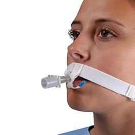Tube Holder, Endotracheal, LockTite, Pre-Cut, Hypoallergenic, Velcro Fastener, White