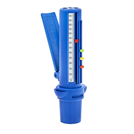 Peak Flow Meter, 60-720 L/min, ATS Scale, 10 L/min Increments, Plastic, 5.5 in x 1.75 in