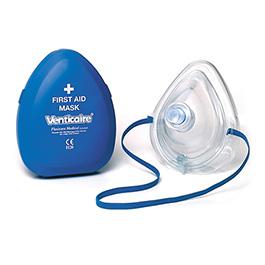 Resuscitation Mask, Pocket First Aid, Case, Valve, Bacterial Viral Filter, Cushion, Strap, O2 Port