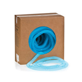 Corrugated Tubing, CORR-A-FLEX II, 100ft Roll, Cuttable Section Every 6 Inches, Blue