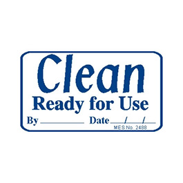 Label, Clean Ready for Use, Small Size