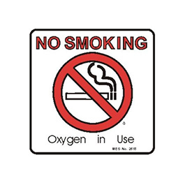 Label, Printed, No Smoking, Oxygen in Use, Roll, 3 x 3-in