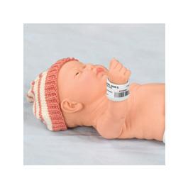 ID Bracelet, Moveable, Foam, Hook and Loop, Newborn, 5 1/2 in x 1 1/4 in.