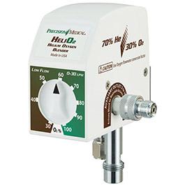 Precision Heliox Blender, Low Flow, Regulator, 3ft Hose