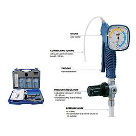 Jet Ventilator, Manujet III, w/4m pressure hose, Jet-Ventilation Catheters, 100 cm connecting tube