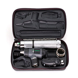 Otoscope Set, 3.5V Pneumatic, w/Rechargeable Handle and Hard Case
