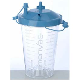 Suction Canisters, Disposable, Hydrophobic Shut-Off Filter