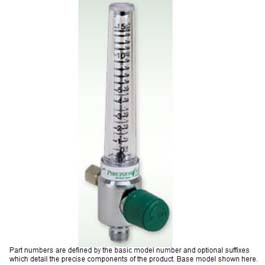 Oxygen Flowmeters, Chrome, 0-15 LPM