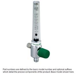 Oxygen Flowmeters, Chrome, 0-3 LPM