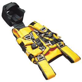 lsp half back extrication rescue vest w removable backboard bound